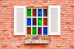 Färgrikt fönster Royaltyfria Foton