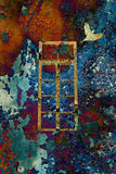 färgrikt fönster Royaltyfri Bild
