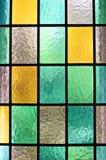 färgrikt fönster Arkivfoton
