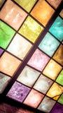 färgrikt fönster Fotografering för Bildbyråer