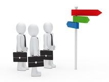 Färgrikt för lag för affärsman choice långt vektor illustrationer
