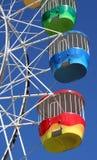 färgrikt ferrishjul Arkivbild
