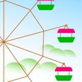 färgrikt ferrishjul också vektor för coreldrawillustration royaltyfria foton
