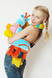 färgrikt flickagarn Arkivfoto
