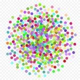 Färgrikt flyg som faller beståndsdelarna av garnering av berömmen Abstrakt bakgrund med fallande konfettier Arkivbilder