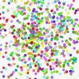 Färgrikt flyg som faller beståndsdelarna av garnering av berömmen Abstrakt bakgrund med fallande konfettier Arkivfoto