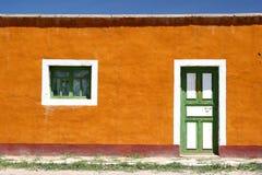 färgrikt främre hus Royaltyfri Foto