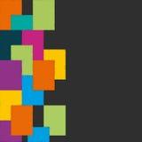 Färgrikt fyrkantigt baner vektor Arkivfoto
