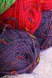 färgrikt garn Royaltyfri Bild