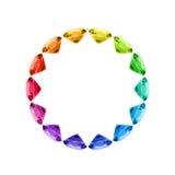 färgrikt gemhjul Arkivfoto