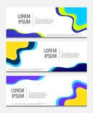 Färgrikt geometriskt baner Vätska formar sammansättning modern mallvektor 10 eps royaltyfri illustrationer