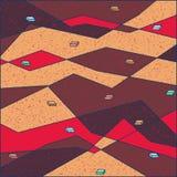 färgrikt geometriskt för bakgrund royaltyfri illustrationer