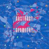 färgrikt geometriskt för bakgrund stock illustrationer