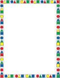 färgrikt geometriskt för kant Royaltyfri Bild