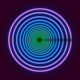 Färgrikt glöda ringer - abstrakt konst för bakgrund eps10 Arkivfoto