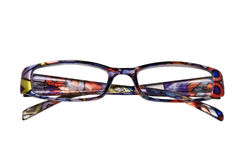 färgrikt glasögon arkivbild