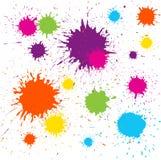 färgrikt grungy designelement för blot Arkivbild