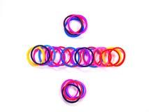 Färgrikt gummibandskiljelinjesymbol Royaltyfri Bild