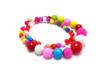 färgrikt halsband för pärla Royaltyfri Bild
