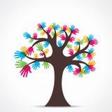 Färgrikt handträd royaltyfri illustrationer
