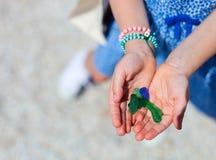Färgrikt havsexponeringsglas Arkivfoto