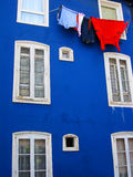 färgrikt hus Arkivbilder