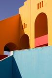 Färgrikt hus Arkivfoton