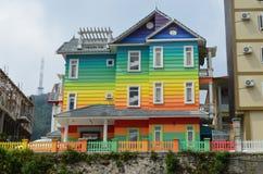 Färgrikt hus Fotografering för Bildbyråer