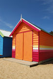 färgrikt hus för strand Royaltyfri Bild