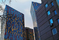 Färgrikt hus i Moskva Arkivbilder