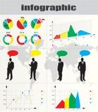 färgrikt infographic Royaltyfri Fotografi