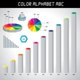 Färgrikt infographic Arkivbild