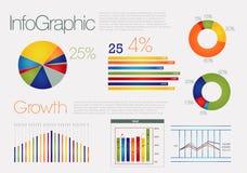 färgrikt infographic modernt Royaltyfria Bilder