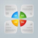 Färgrikt informationsdiagram om vektor Royaltyfri Foto