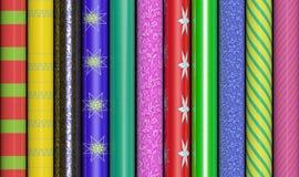 Färgrikt inpackningspapper arkivbilder