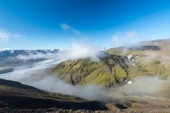 Färgrikt isländskt is- landskap Royaltyfria Bilder