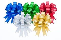 färgrikt isolerat band för bow Fotografering för Bildbyråer