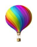 färgrikt isolerat varmt för luftballon Royaltyfri Fotografi