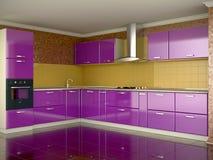 färgrikt kök stock illustrationer