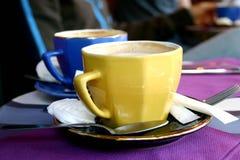 färgrikt kaffe royaltyfri foto