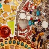 Färgrikt keramiskt Arkivbild