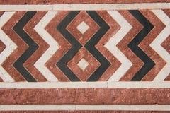 Färgrikt konstverk i Taj Mahal Arkivbild