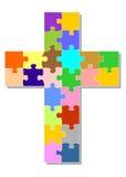 färgrikt kors Arkivfoton