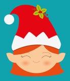 Färgrikt kort för glad jul Fotografering för Bildbyråer