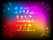 Färgrikt kort för nytt år vektor illustrationer