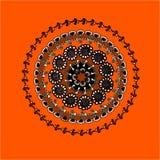 Färgrikt kort med mandalaen Royaltyfri Bild