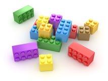 Färgrikt kvarter Arkivbild
