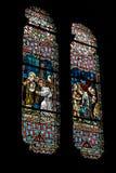 Färgrikt kyrkligt fönster Royaltyfri Fotografi