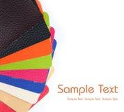 färgrikt läder royaltyfria foton