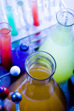 färgrikt laboratorium Arkivbild